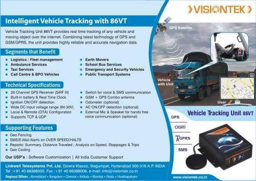 Intelligent Vehicle Tracking with 86VT